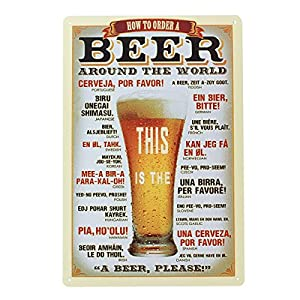 YESURPRISE Europen Vintage Style Metal Advertising Wall Sign Retro Art 20*30cm A Glass of beer from Yesurprise.co.ltd