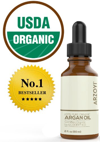 Argan Oil for Hair, Face, Skin, Nails & Body by Arzoyi. Organic, Moroccan, 100 Pure, USDA, Cold Pressed Argan Oil for Treatment, Growth, & Hair Care.