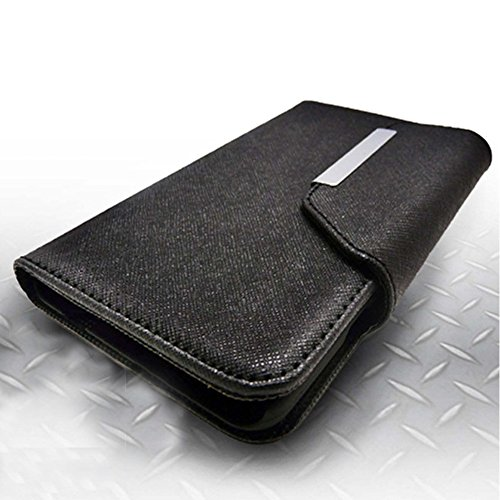 Mylife (Tm) Slate Black {Professional Design} Faux Leather (Card, Cash And Id Holder + Magnetic Closing) Slim Wallet For The All-New Htc One M8 Android Smartphone - Aka, 2Nd Gen Htc One (External Textured Synthetic Leather With Magnetic Clip + Internal Se