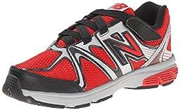 New Balance KV697 Youth Hook and Loop Running Shoe (Little Kid/Big Kid), Red/Black, 13.5 W US Little Kid