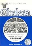 Chelsea v Arsenal official programme 16/10/1971