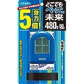 どこでもベープGO!未来 携帯虫よけ 480時間(60日)セット ブルー 本体+取替