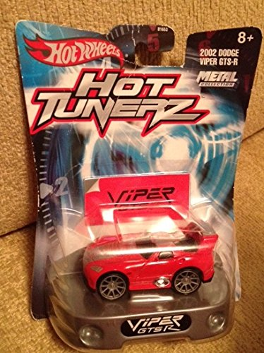 Hot wheels HOT TUNERZ 2002 DODGE VIPER GTS-R red and silver RARE metal collection