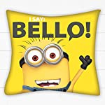 Despicable Me 35 x 35 cm 100 Percent Polyester Bello Cushion, Yellow