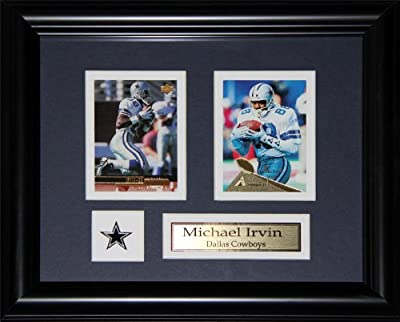 Michael Irvin Dallas Cowboys 2 card frame