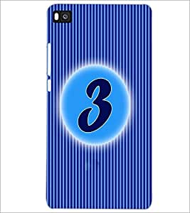 PrintDhaba Numerology Number 3 D-2558 Back Case Cover for HUAWEI P8 (Multi-Coloured)