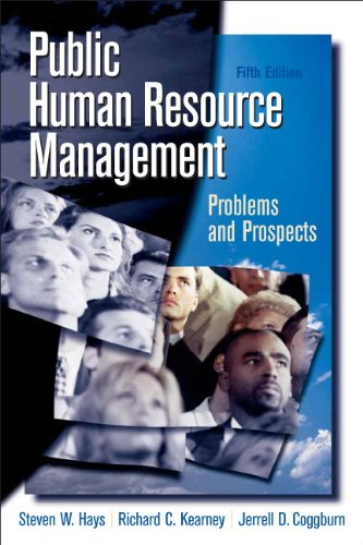 Public Human Resource Management: Problems and Prospects...