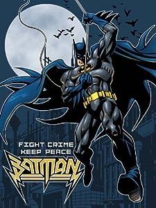 "Licensed Batman Fight Crime Twin Size Plush Raschel Blanket 60""x80"" at Gotham City Store"