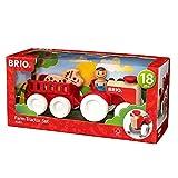 Brio - Set de tractor y remolque con caballo (30265)