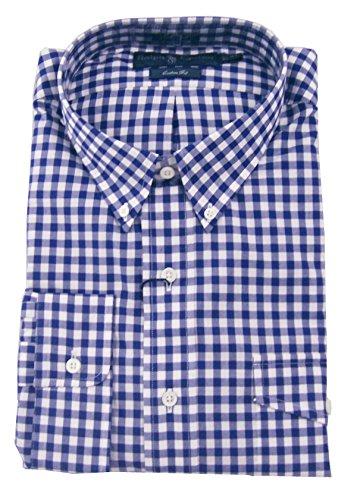 Polo Ralph Lauren Men'S Custom-Fit Gingham Pocket Shirt, Navy/White, X-Large