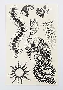 Amazon.com: Black Tattoos Fashion Henna Jewelry Body Art Tattoos