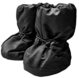 7AM Enfant 212 Soft -Soled Booties, Water Repellent, Insulated and Quilted - Black, Large