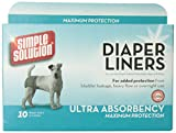 Simple Solution Diaper Liners Ultra Absorbency, 10-Pack
