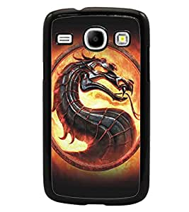 PrintDhaba Dragon D-5152 Back Case Cover for SAMSUNG GALAXY CORE i8262 (Multi-Coloured)