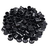 100pcs 11mm Black Plastic Steady Wide Base Ink Cups Cap Tattoo Supply