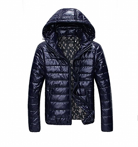 Tm Men Coats Winter On Sale Zip Up Hooded Camouflage Winter Jackets Navy Blue