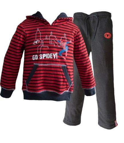 Spiderman con cappuccio Tuta da ginnastica / Jogging Completo Rosso Taglia 2 Anni
