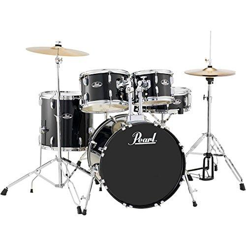 Pearl Roadshow Rs505C/C31 5-Piece Drum Set, Jet Black