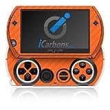 ICarbons Orange Carbon Fiber Vinyl Skin For Sony PSP Go