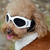 Fashion Cool Windproof Rainproof Dog Sunglasses Dog Sunglasses Dog Goggles (White)