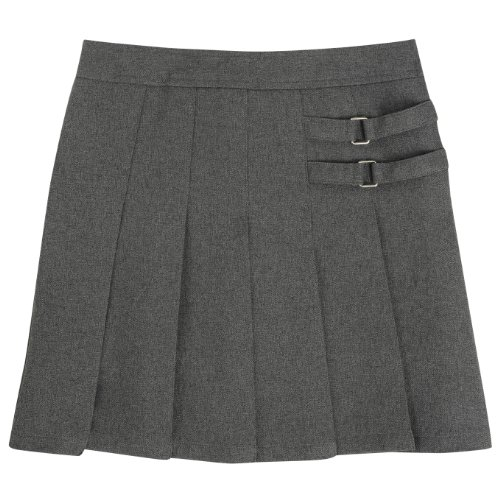 French Toast School Uniforms Two Tab Scooter Girls Heather Grey 8 front-315744