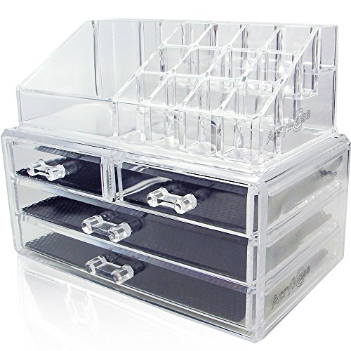 Great Features Of AcryliCase® Acrylic Cosmetic and Jewelry Organize Storage Boxs, 2 Piece Set