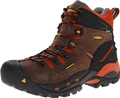 Keen Utility Men's Pittsburgh Soft Toe Work Shoe,Cascade Brown/Bombay Brown,8 D US