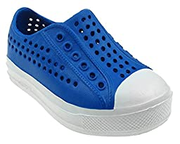 Capelli New York Toddlers Unisex Slip On Sneaker With Toe Cap Blu-Ray 8/9