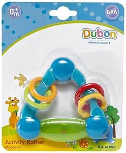 Bebe Dubon Activity Teething Rattle, born, Colors May Vary by Bebe Dubon