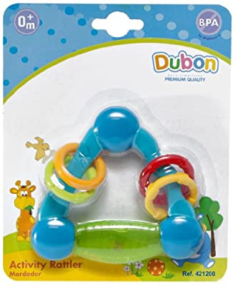 Bebe Dubon Activity Teething Rattle, born, Colors May Vary by Bebe Dubon