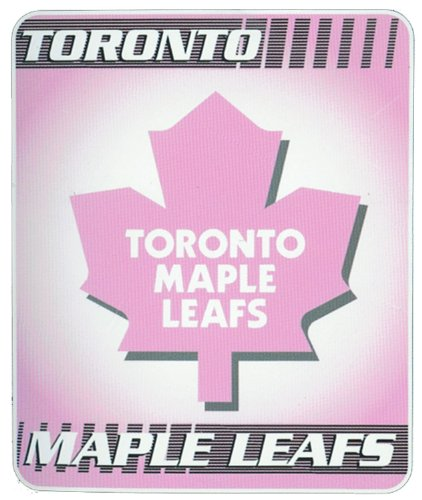 NHL Toronto Maple Leafs Pink Micro Raschel Throw Blanket 45