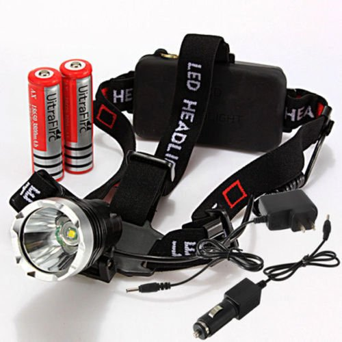 Xidaje 18650 Charger Rechargeable 1600Lm Cree Xm-L T6 Led Headlamp 3 Mode Us Plug