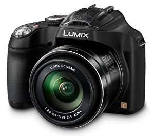 Panasonic DMC-FZ72EB-K Lumix Camera - Black (16.1MP, Super Telephoto 60x Optical Zoom, 20mm Ultra Wide Angle Lens)