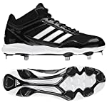 Adidas G21050 Excelsior Pro Metal Men's Mid Baseball Cleats (Black/Running White)