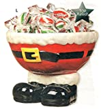 ADORABLE SANTA FEET CERAMIC BOWL