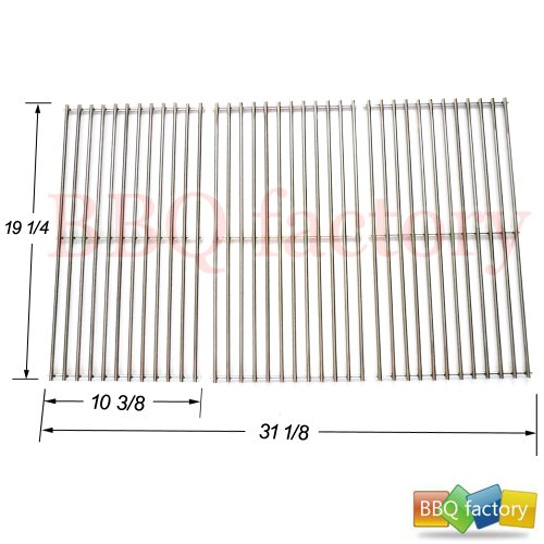 591S3 BBQ Stainless Steel Wire Cooking Grid Replacement For Select Gas Grill Models By Brinkmann, Charmglow And Others, Set Of 3
