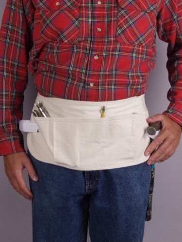 Genau Gear 6505 5 Pocket Canvas Waist Apron, Beige