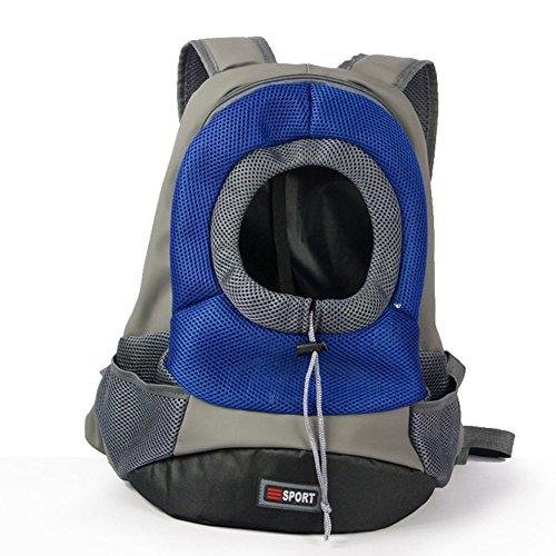 Lifeunion Easy Access Zippered Front Backpack Pet Carrier with Mesh Windows Sporty Pet Backpack for Biking, Hiking, Trip, Shopping (Royal Blue)