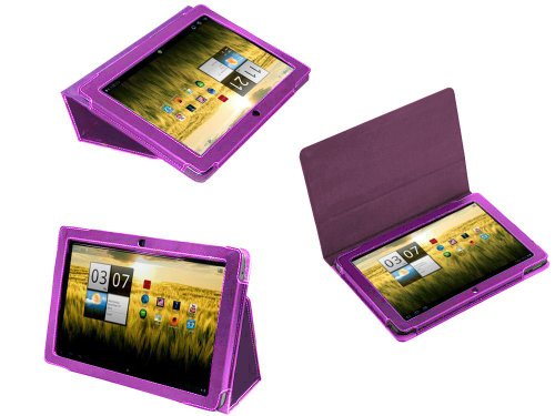Navitech Purple Governing Premium Leather Flip Carry Cover With Stand For The Acer Aspire ICONIA TAB A200