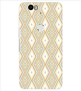 HUAWEI NEXUS 6P DIAMOND PATTERN Designer Back Cover Case By PRINTSWAG