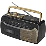Studebaker SB2127BG Portable Cassette Recorder and Player with FM Radio (Color: Black / Grey)