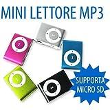 MINI LETTORE MP3 MEMORIA ESPANDIBILE FINO 4GB