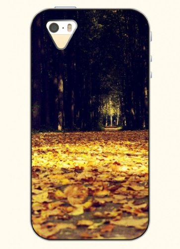 Oofit Phone Case Design With Avenue Covered With Fallen Leaves For Apple Iphone 4 4S 4G front-641645