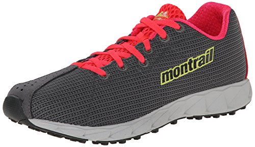 Montrail Womens Rogue Fly Trail Running Shoe, Quarry/Fresh Kiwi, 8 M US