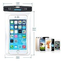 Mpow スマホ用防水ケース iPhone6S/6S Plus/6 Samsung GalaxyS6などに対応 防水IPX8