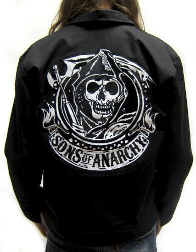 Sons of Anarchy - Mechanic Reaper Banner - Men's Jacket (Large)