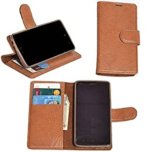 R&A Pu Leather Wallet Flip Case Cover With Card & ID Slots & Magnetic Closure For HTC Desire 628