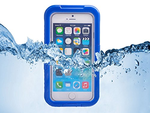 Queens® Waterproof Dustproof Snowproof Shockproof Hard Armor Protective Cover Case For Apple Iphone 6 With Screen Protect And Touch Pen (4.7 Inch)(1-Dark Blue)