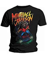 MICHAEL JACKSON-THIS IS IT GAROUS (/)-THRILLER OFFICIEL T-SHIRT POUR HOMME