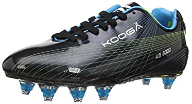 Kooga Unisex-Adult KS 6000 LCST Venom Rugby Boots 31405 Black/Blue/Lime 6 UK, 39.5 EU Regular
